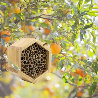 Handmade Bamboo Beehive in Orange Grove