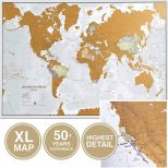 Scratch Off World Travel Map extra large size