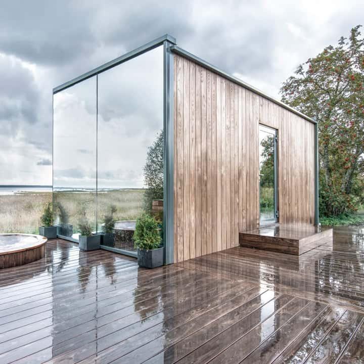 Mirrored Tiny House