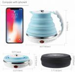 Collapsible Silicone Electric Travel Kettle5