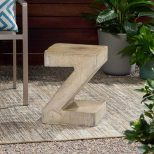 Z-Shaped Outdoor Concrete Table3