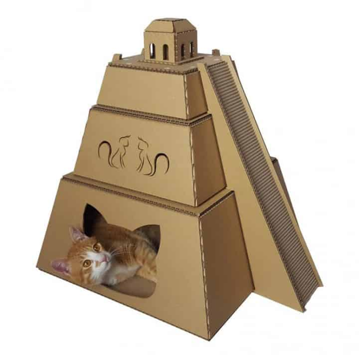 Mayan Pyramid Cardboard Cat House
