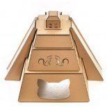 Mayan Pyramid Cardboard Cat House4