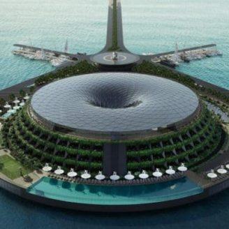 Spinning Floating Luxury Resort