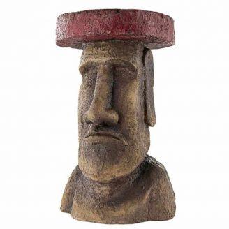 Polynesian Moai Easter Island Side Table