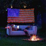 Giant American Flag String Lights