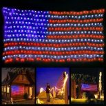 Giant American Flag String Lights5