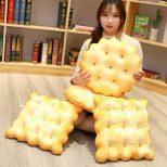 Soda Crackers Shaped Throw Pillows2